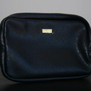tarte Black Vegan Leather Makeup Bag